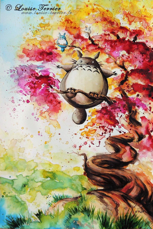 hayao-miyazaki-studio-ghibli-paintings-fan-art-louise-terrier Nerd pai 13