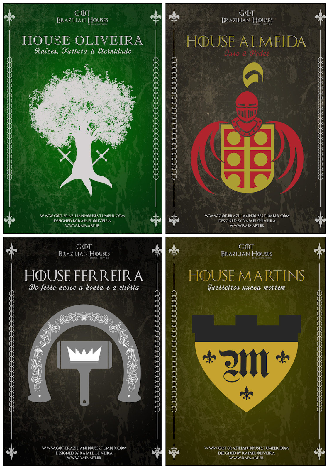E se as Casas de Game Of Thrones tivessem os sobrenomes brasileiros 01