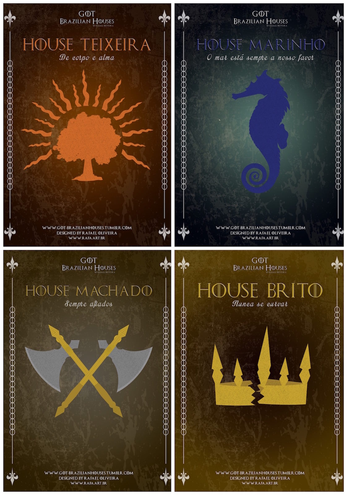 E se as Casas de Game Of Thrones tivessem os sobrenomes brasileiros 03
