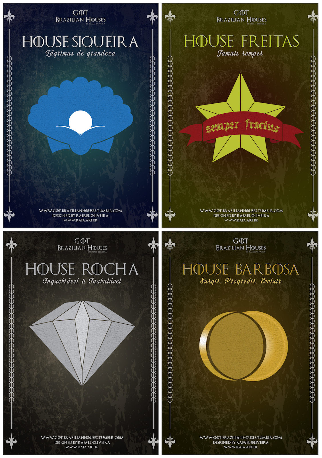E se as Casas de Game Of Thrones tivessem os sobrenomes brasileiros 04