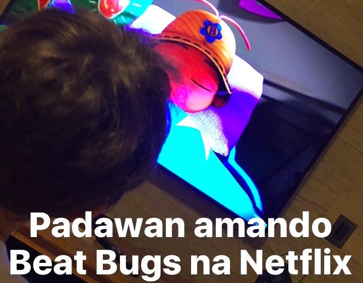 Padawan assistindo Beat Bugs