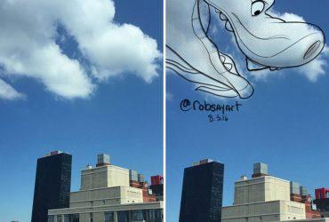 Pareidolia em nuvens