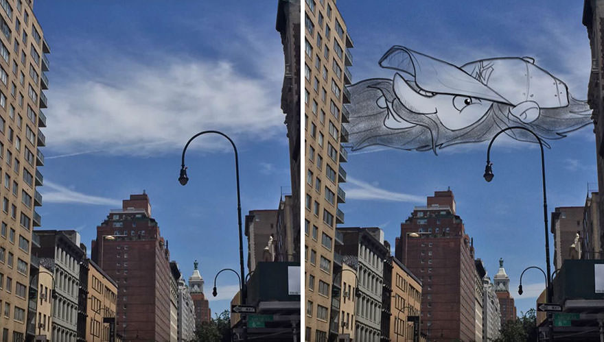 Pareidolia em nuvens 2