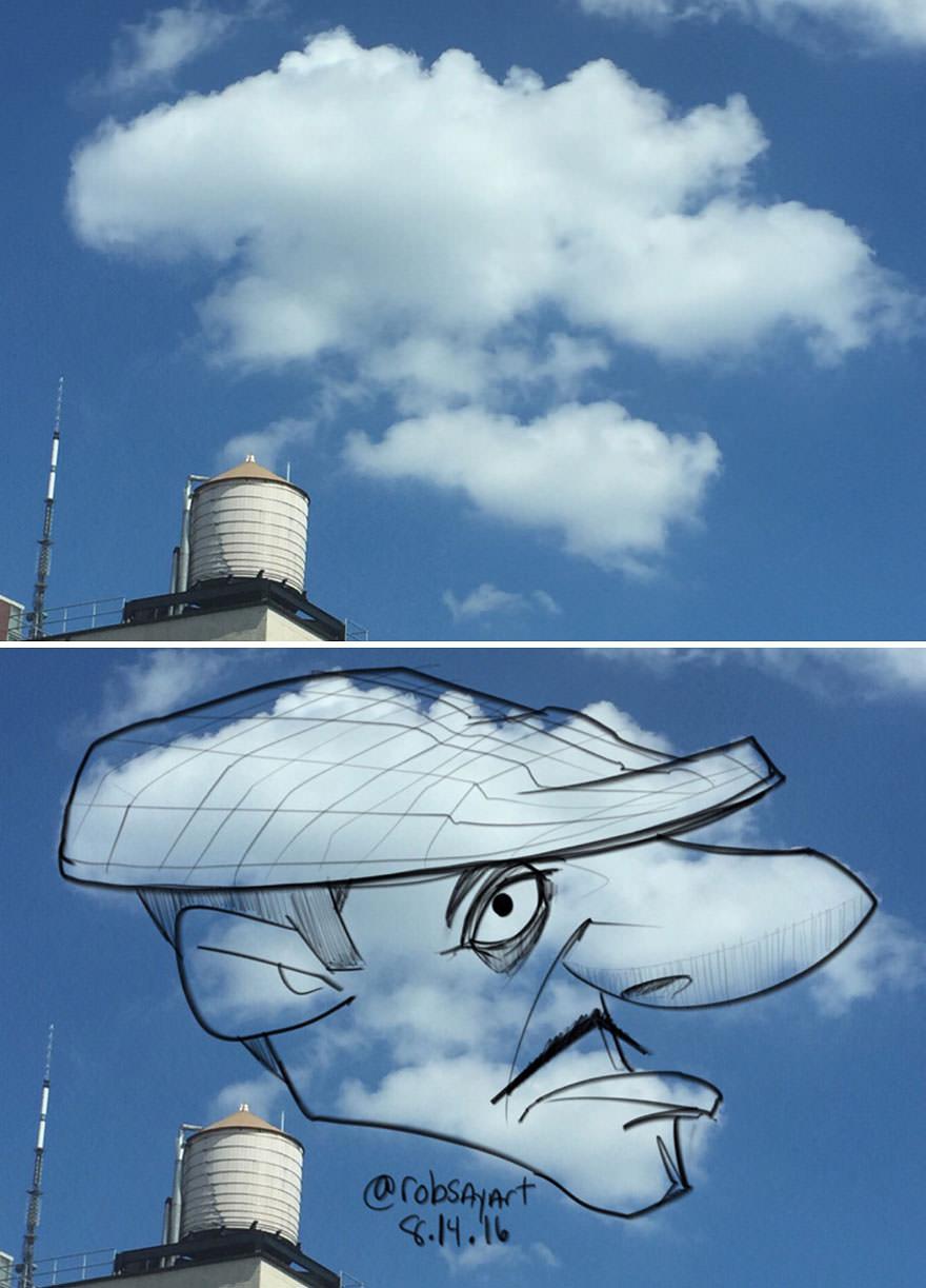 Pareidolia em nuvens 3