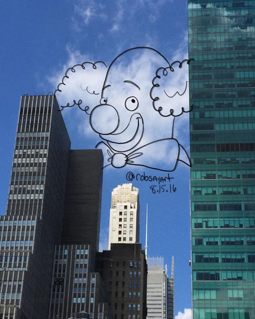 Pareidolia em nuvens 8