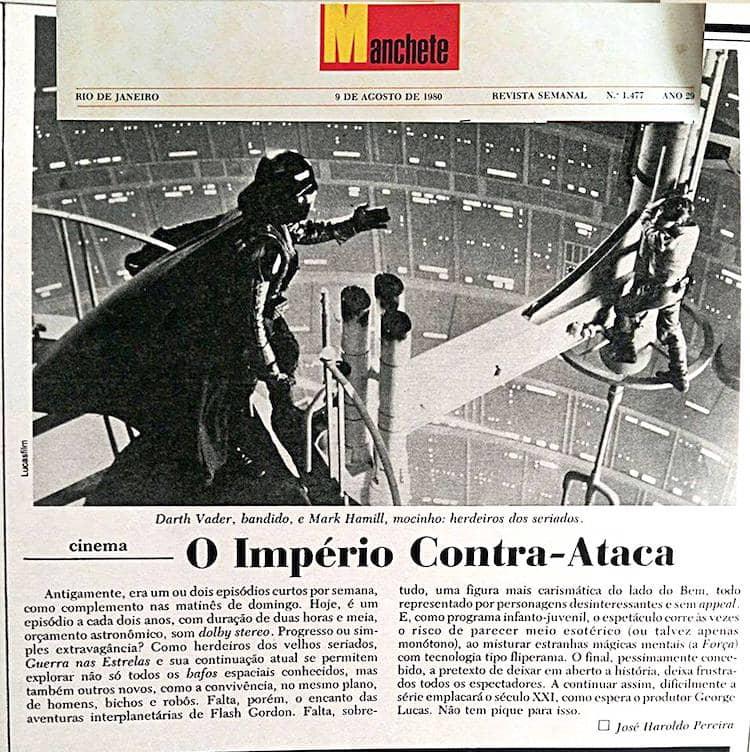 O aprendi com a crítica de 1980 de O Império Contra-Ataca
