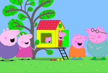 Papai Pig e a senha da casa da árvore Peppa Pig