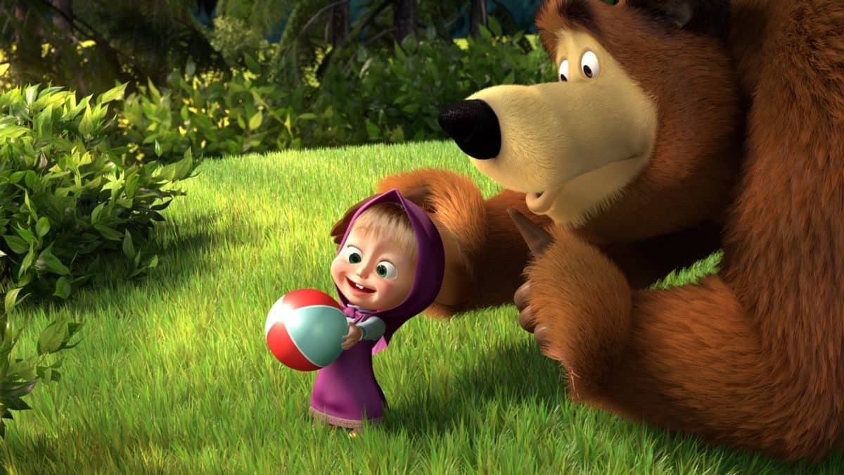 Adultos Assistindo Desenhos Infantis Masha E O Urso Nerd Pai
