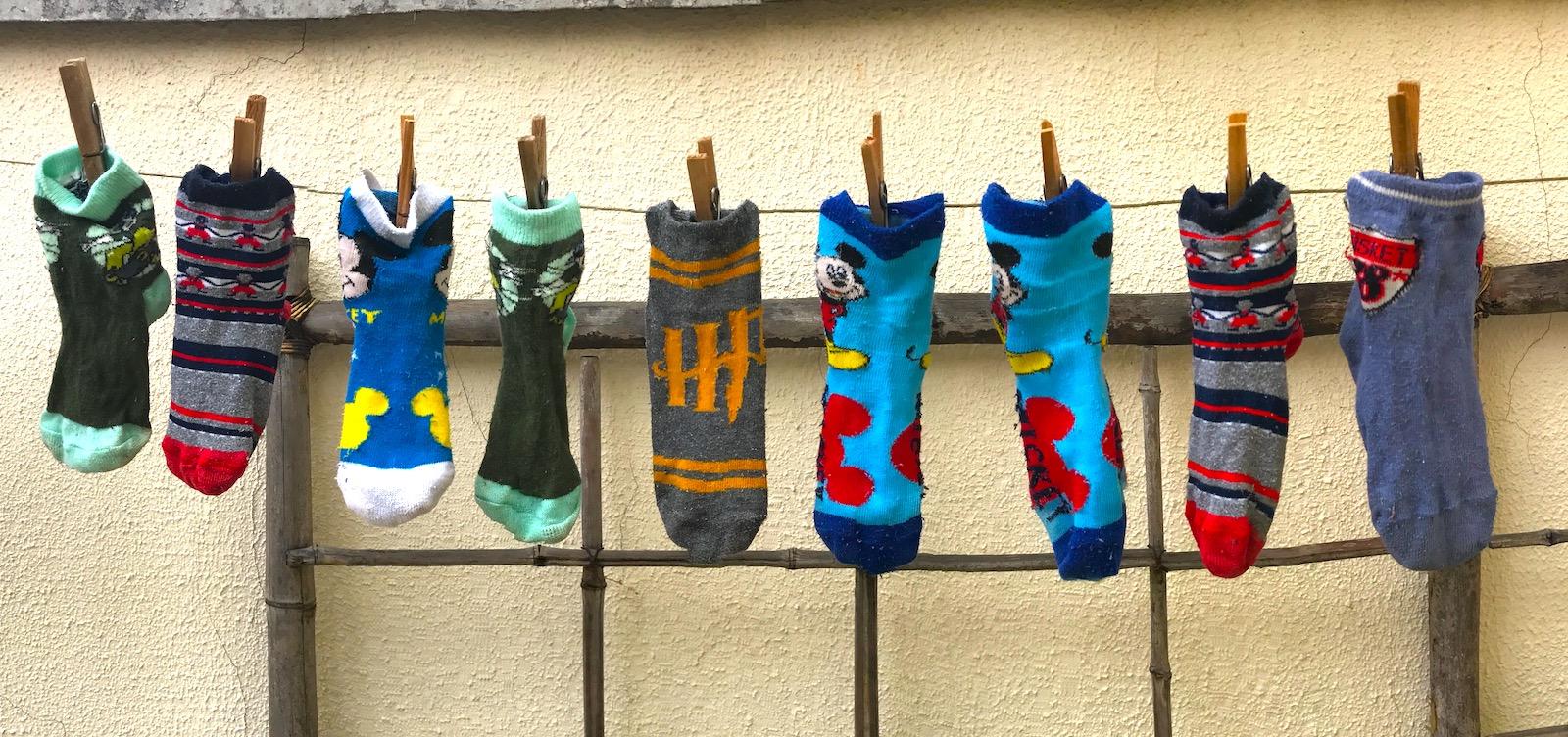 O mundo paralelo das meias