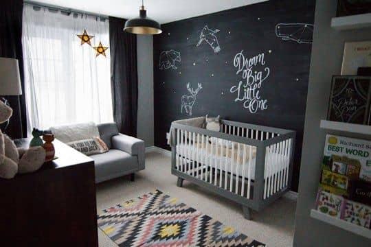 lousa na parede quarto infantil 1