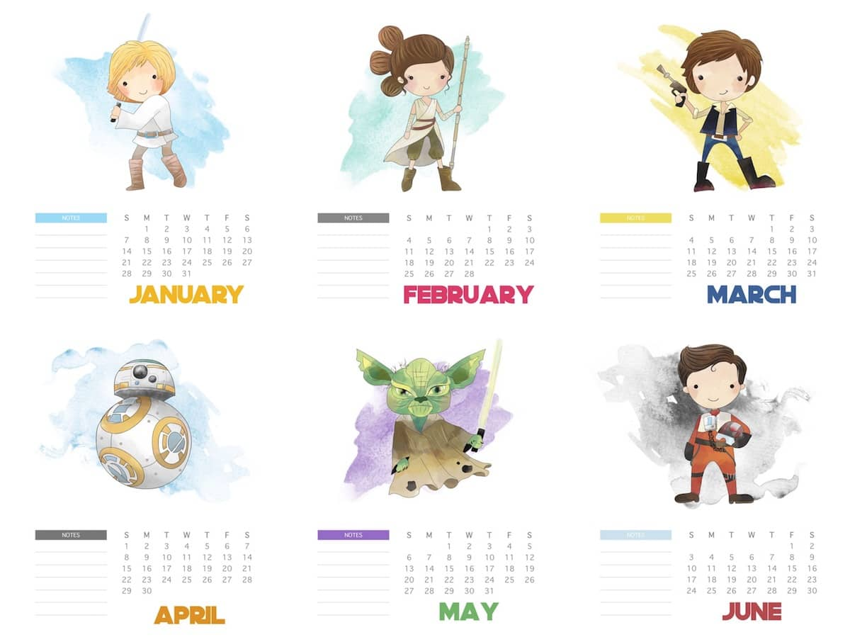 Calendário Star Wars 2018 Nerd Pai