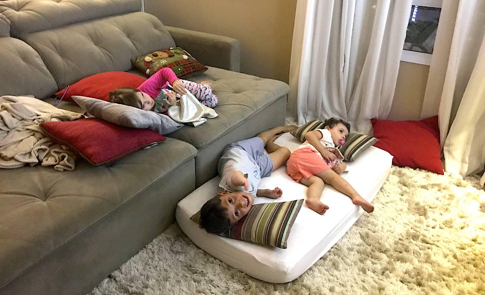 rotina em dormir nas férias
